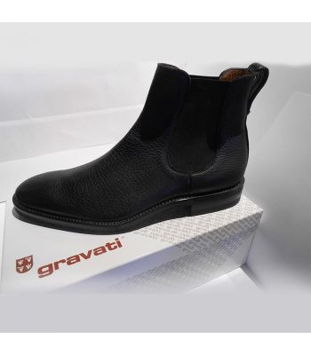 CHELSEA BOOT IN BLACK BISON