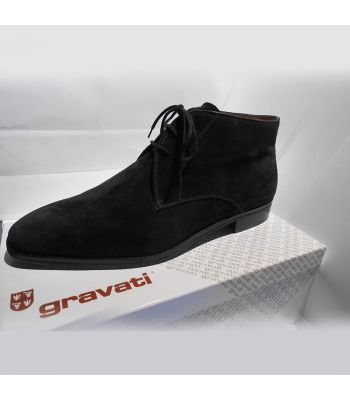 CHUKKA BOOT IN BLACK WATERPROOF SUEDE