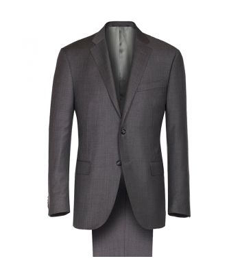 Corneliani Medium Gray Sharkskin