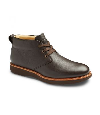 RE-BOOT- ESPRESSO BROWN LEATHER/ BROWN SOLE