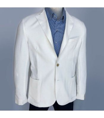 Limited Edition Ivory Stretch Jersey Pique Jacket