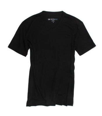 Black Pima Cotton V-Neck T-Shirt