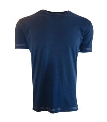 Indigo Blue Crew Pima Cotton T-Shirt