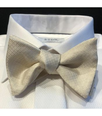 Ivory Woven Parque Bow