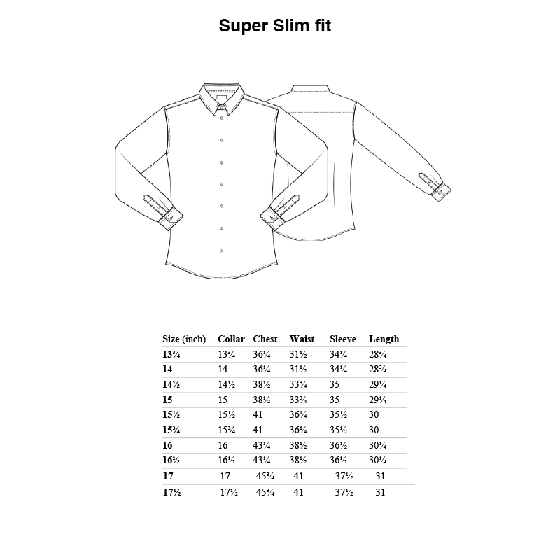 eton shirt size super slim